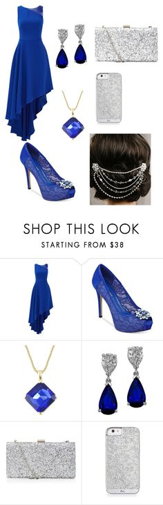 """""""prom night"""" by brianna-andrew-roberts ❤ liked on Polyvore featuring Halston Heritage, GUESS and Sara Gabriel"""