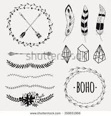 Simply Pretty with Scrapbook Borders Templates Scrapbook Borders Templates Vector Monochrome Ethnic Set With Arrows Feathers Crystals Floral Scrapbook Borders, Scrapbook Pages, Scrapbooking, Gipsy Wedding, Border Templates, Arrow Feather, Style Scrapbook, Hippie Designs, Invitation Background