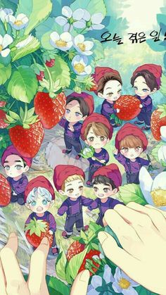 Find images and videos about cute, kpop and exo on We Heart It - the app to get lost in what you love. Kpop Exo, Kpop Fanart, Chibi Exo, Baekhyun, Exo Cartoon, Exo Anime, Exo Fan Art, Exo Lockscreen, Kim Minseok