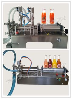 Link: http://amisyfoodmachine.com/product/juier-machine/juier-machine/manual-bottle-filling-machine.html Email: info@amisymachine.com This series offilling machine is piston filling machine, self-suction filling material, driven by the cylinder piston extraction material enters the metering cylinder, again by pneumatic drive piston through the feeding tube into the container, filling volume is determined by adjusting the cylinder stroke.