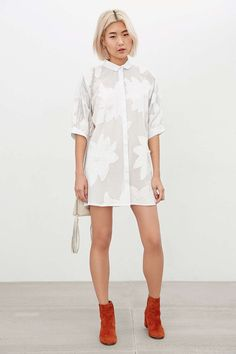 Little White Lies Avia Floral Shirt Dress #UrbanOutfitters