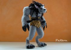 CROCHET PATTERN for World of Warcraft  Worgen / amigurumi pattern for WOW worgen toy / crochet tutorial for Werewolf doll / gift for a gamer by tinyAlchemy on Etsy https://www.etsy.com/listing/127108600/crochet-pattern-for-world-of-warcraft