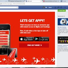 Jet2 have a sub-page for their app on their Facebook page.  https://www.facebook.com/Jet2Social/app_190322544333196