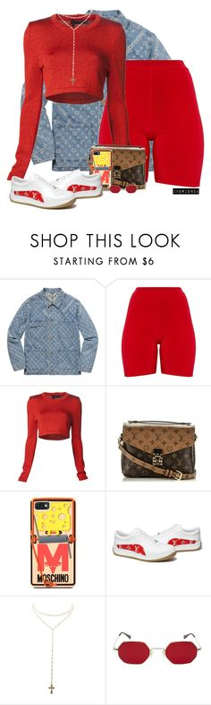 """io"" by ivorionda ❤ liked on Polyvore featuring Louis Vuitton, Calvin Klein Collection, Moschino and Charlotte Russe"