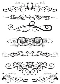 set of the design elements Stock Vector