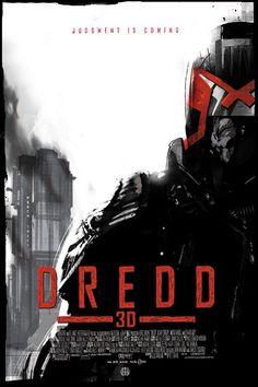 DREDD 3D poster by artist Jock for the Alamo Drafthouse's screening of Dredd 3D. #Mondo