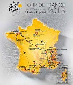 Tour de France 2013 route. love watching the tour ...