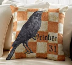 Harlequin Halloween Pillow at Pottery Barn.  $39.50.  Who can make these for less?  clb