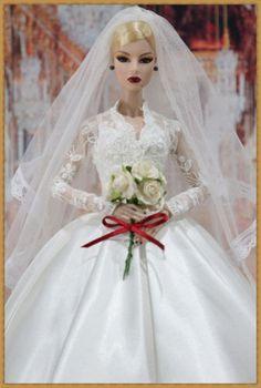 New wedding dress for Fashion royalty / silkstone dolls by t.d.fashion 5/2/2