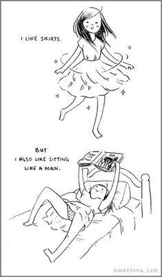 I like skirts… hahah I'm guilty :(