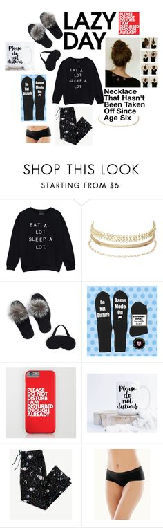 """""""Sleep In: Lazy Day - Contest Entry"""" by flyingunikittys-poopattack on Polyvore featuring Charlotte Russe, Portolano, Ann Taylor and Naked"""