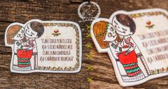 Dragobete is the traditional valentines day for romanians :) I chose to make these adorable traditional couples along with few lines f. Christmas Time, Folk Art, Valentines Day, Art Prints, Embroidery, Cool Stuff, Creative, Cute, How To Make
