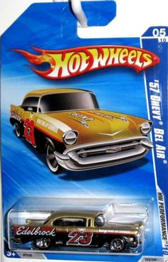 2010 Hot Wheels 1957 CHEVY BEL AIR, EDELBROCK HW PERFORMANCE Kmart #HotWheels #Chevrolet