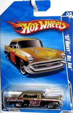 2010 Hot Wheels 1957 CHEVY BEL AIR, EDELBROCK HW PERFORMANCE Kmart #HotWheels #Chevrolet