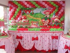 Decoracion fiesta Frutillitas