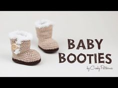 How to Crochet Fast and Easy Crochet Baby Booties   Croby Patterns - YouTube