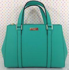 Kate Spade Newbury Lane Small Loden Satchel Handbag Purse Lt Teal WKRU2462   eBay $167