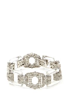 Vintage Art Deco Diamond And Rock Crystal Bracelet by FD Gallery for Preorder on Moda Operandi