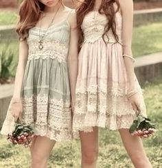 Pretty shabby chic bridesmaid dresses