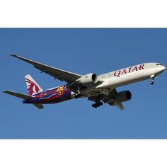 A7-BAE Boeing 777-300(ER) Qatar Airways in FC Barcelona colours by Matthew Hannigan @mhannigan1 Instagram photo | Websta (Webstagram)