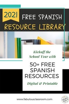 Are you a pre-k, elementary, or secondary Spanish teacher? If so, you'll love this FREE no-prep Back to School Resource Library! This huge collection of digital & printable Spanish teaching resources is a lifesaver! Whether you need a quick vocabulary review, a sub-plan, or a fun learning game, you're sure to find it in these Spanish lessons. Your students will have fun learning & you'll save time & energy! Grab these now so planning your next Spanish activity will be simple & stress-free! Spanish Teaching Resources, Spanish Activities, School Resources, Teaching Materials, Teacher Resources, Homeschooling Resources, Spanish Lesson Plans, Spanish Lessons, Fun Learning Games