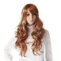 Curly Multicolor Long Capless High Quality Synthetic Party Wig