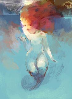 ♒ Mermaids Among Us ♒ art photography & paintings of sea sirens & water maidens - by hoooook Siren Mermaid, Mermaid Tale, Tattoo Mermaid, Real Mermaids, Mermaids And Mermen, Fantasy Mermaids, Art Et Illustration, Illustrations, Mermaid Illustration