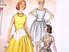 Simplicity 1960s Dress Pattern Misses Size 11 UNCUT 2 Piece Dress Vintage Sewing Pattern view on Etsy by PatternsFromThePast