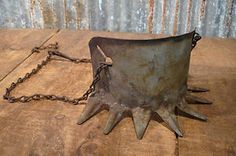 Old Cowboy Antiques | Antique-Chain-Tin-Calf-Weaning-Halter-Old-Rustic-Farm-Cowboy-Ranch ...