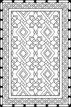 Iranian Carpet  coloring page Download