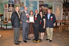 Pictured from left, Logan Coykendall (CEO, Hospitality Solutions), Allen Barker (one of the owners of The Historic Gatlinburg Inn), Cherel Henderson (ETHS director), Gary Bailey (GM of The Historic Gatlinburg Inn), Amelia Sweeney and Davy Thomas (COO, Hospitality Solutions)