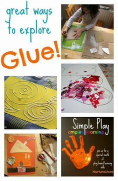 Great ways to explore glue!