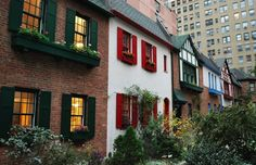 hidden gem in NYC: Pomander Walk on the Upper West Side, hidden between Broadway and West End