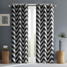 Intelligent Design Pisces Curtain Panel Pair 42x84 Black Size 42