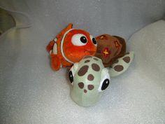Disney Finding Nemo - Nemo Clownfish & Squirt Turtle - 2 Character soft toy Finding Nemo Toys, Clownfish, Snowman, Turtle, Tv, Disney Characters, Ebay, Tortoise, Turtles