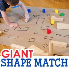 Great shape matching and recognition activity for toddlers and preschool.
