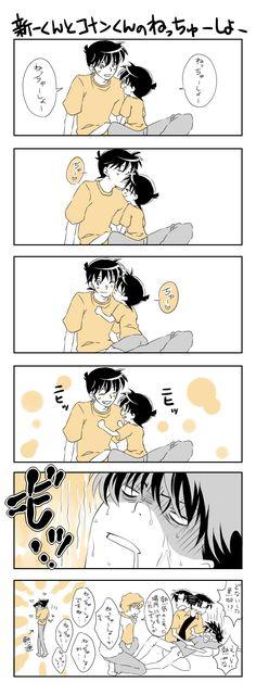 新一君とコナン君のねっちゅーしょー【兄弟設定】