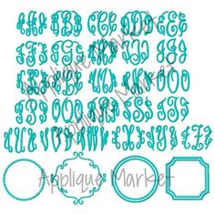 From traditional to whimsical, Applique Market's alphabets and monograms are a great match for all of your embroidery needs. This Grand Monogram large sizes provides a full set of letters for total customization.