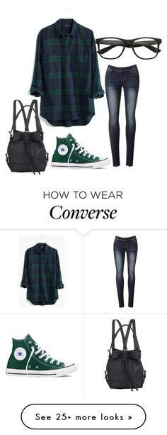 """""""Prep"""" by carlafashion-246 on Polyvore featuring Madewell, Converse, Opening Ceremony, women's clothing, women, female, woman, misses and juniors"""