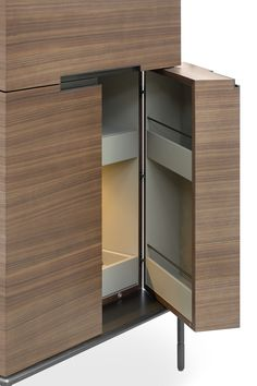 Contemporary bar cabinet / metal / in wood / by Christophe Pillet - WINSTON - LEMA Home