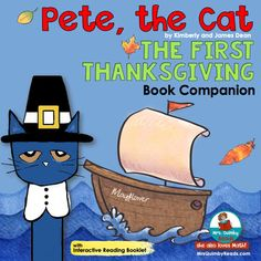 Pete the Cat   The First Thanksgiving   Book Companion   Reader Response Pages