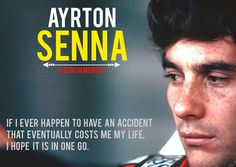 Senna  had his wish as he died in one go- as he quotes here.