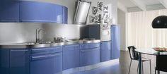 DOMINA MODERN CURVED KITCHEN DESIGN Pretty Decor, Kitchen Fittings, Kitchen Design, Modern Kitchen, Gourmet Kitchens, Curved Kitchen, Kitchen, Home Decor, Blue Kitchens