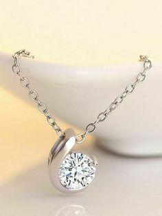 Diamond Solitaire Necklace, Diamond Pendant Necklace, Pendant Jewelry, Diamond Jewelry, Diamond Necklaces, Diamond Bands, Silver Necklaces, Gold Necklace, Sr K