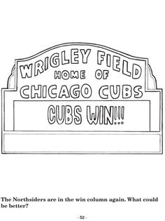 #chicago #cubs coloring pages #flytheW