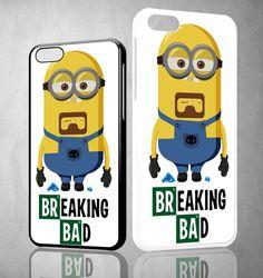 BREAKING BAD MINION Y1406 iPhone 4S 5S 5C 6 6Plus, iPod 4 5, LG G2 G3 Nexus 4 5, Sony Z2 Case