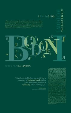 """The following three posters reveal the history of the typographer Giambattista Bodoni, who designed the typeface """"Bodoni"""" in 1790. Description from lyndseyburke.com. I searched for this on bing.com/images"""