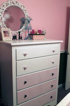 A's big girl dresser {before & after}
