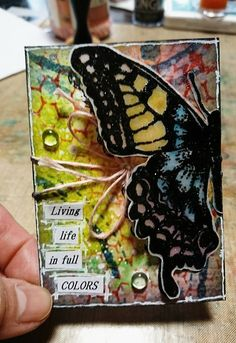 My ATC , used lots of Distress inks in this one Art Journal Pages, Art Journaling, Journal Prompts, Junk Journal, Art Trading Cards, Artist Card, Atc Cards, Art Journal Inspiration, Inspiration Cards