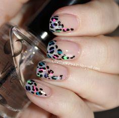 Funky leopard print nails